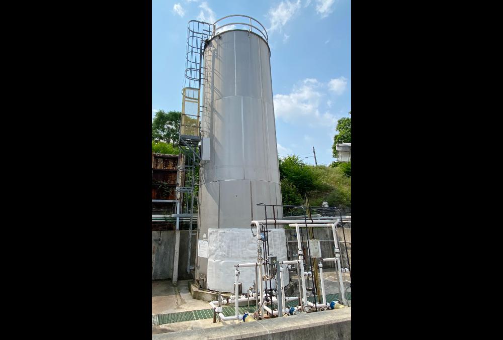 Stainless steel hydrogen peroxide tank